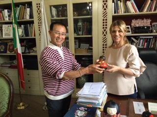 OrvietoのRoberta Tardani市長に会いました。